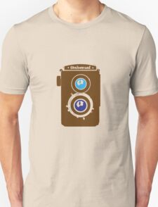 Vintage LOMO Twin Lens Reflex Camera illustration - brown T-Shirt