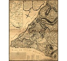American Revolutionary War Era Maps 1750-1786 223 A plan of the city of New York & its environs to Greenwich on the north or Hudsons River and to Crown Point Photographic Print