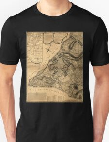 American Revolutionary War Era Maps 1750-1786 223 A plan of the city of New York & its environs to Greenwich on the north or Hudsons River and to Crown Point Unisex T-Shirt