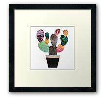 Pretty Cactus Framed Print