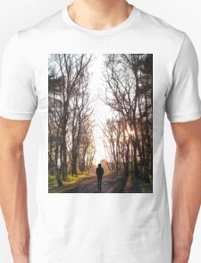 Man Walking Through the Forest Unisex T-Shirt