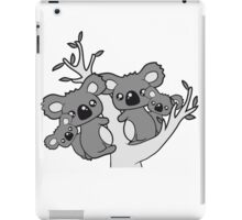 sweet little baby koala cute mamapapa 2 children couple holds family eucalyptus tree itself iPad Case/Skin