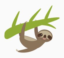 Winking sloth an a bench Baby Tee