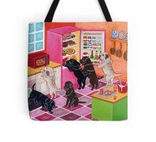 Kitchen Party Labradors Tote Bag
