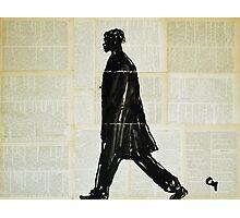 Basquiat on a walk. Photographic Print
