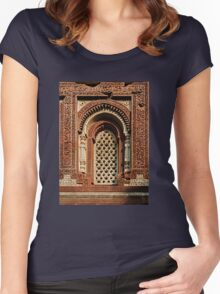 Kutab Minar Detail 1 Women's Fitted Scoop T-Shirt
