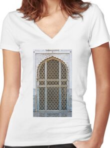 Marble Doorway Women's Fitted V-Neck T-Shirt