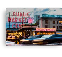 Pike Place Alive Canvas Print