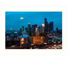 Seattle Landmarks Art Print