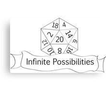 Infinite Possibilities D20 Canvas Print