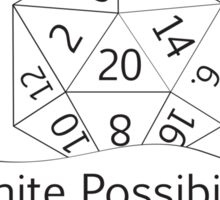 Infinite Possibilities D20 Sticker
