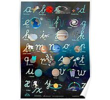 Alex Astronaut ABC Lowercase Handwriting Poster Poster