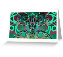 Neon Demoness Greeting Card