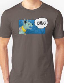 Lying Cat Comic Panel T-Shirt