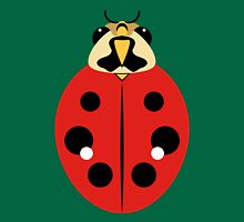 Red Ladybug Beetle Graphic Womens Fitted T-Shirt