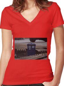Hard Landing Women's Fitted V-Neck T-Shirt