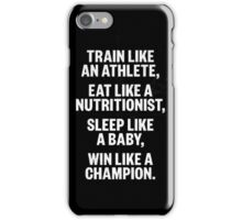Sport Motivation Quote iPhone Case/Skin