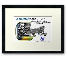 Airbus A 380 GP7000 Engine Framed Print