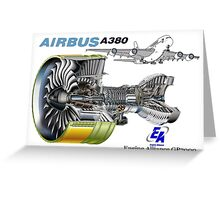 Airbus A 380 GP7000 Engine Greeting Card