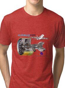 Airbus A 380 GP7000 Engine Tri-blend T-Shirt