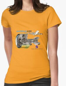 Airbus A 380 GP7000 Engine Womens Fitted T-Shirt