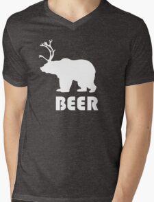 Beer Bear Mens V-Neck T-Shirt