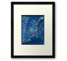 American Revolutionary War Era Maps 1750-1786 102 A map of the most inhabited part of New England containing the provinces of Massachusets Bay and New Inverted Framed Print
