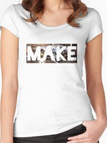 Make Women's Fitted Scoop T-Shirt