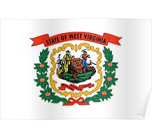 West Virginia state coat of arms Poster