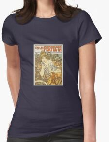 Alphonse Mucha - Cycles Perfecta  Womens Fitted T-Shirt