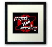 PZW [Project Zero Wrestling] Framed Print
