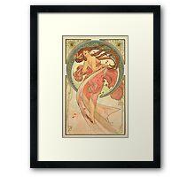 Alphonse Mucha - Dance Framed Print