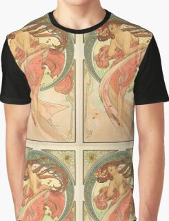 Alphonse Mucha - Dance Graphic T-Shirt
