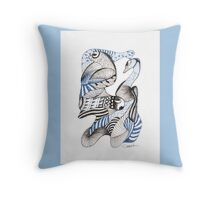Blues and Browns Throw Pillow