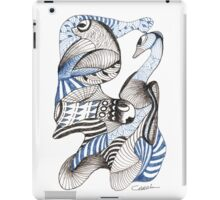 Blues and Browns iPad Case/Skin
