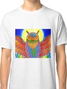 Psychedelic Rainbow Owl Classic T-Shirt