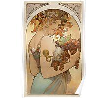 Alphonse Mucha - Fruit  Poster