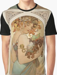 Alphonse Mucha - Fruit  Graphic T-Shirt