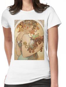 Alphonse Mucha - Fruit  Womens Fitted T-Shirt