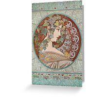 Alphonse Mucha - Ivy  Greeting Card