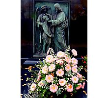 Daisies on a grave Photographic Print