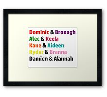 The Slater Brothers Couples Framed Print
