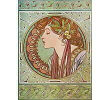 Alphonse Mucha - Laurel  Photographic Print