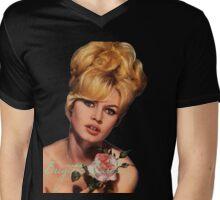 Brigitte Bardot  Mens V-Neck T-Shirt
