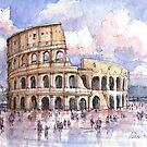 Il Colosseo, Roma  by Luca Massone  disegni