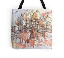 The flying village! Tote Bag