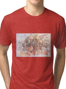 The flying village! Tri-blend T-Shirt