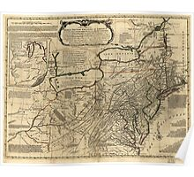 American Revolutionary War Era Maps 1750-1786 043 A general map of the middle British colonies in America 13 Poster