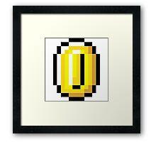 8-Bit Retro Coin Framed Print