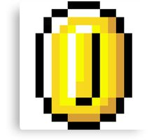 8-Bit Retro Coin Canvas Print